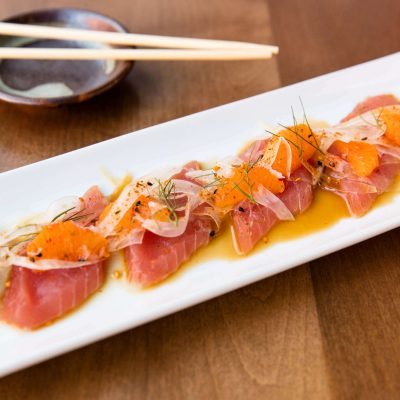 Winter 2017 Seasonal Specials: Mandarin Orange & Fennel Tuna Sashimi