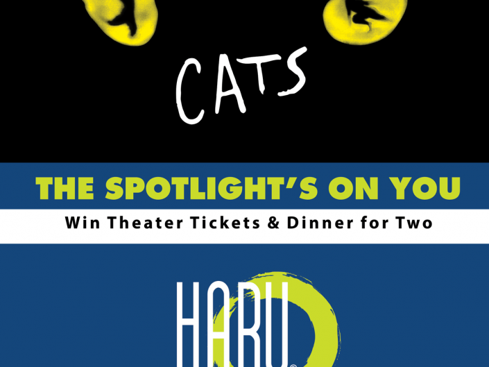 Cats Poster - Win Theater Tickets & Dinner for Two