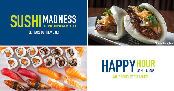 Haru Sushi Happy Hour: 3pm - Close