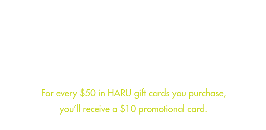 Haru Holiday Gift Cards