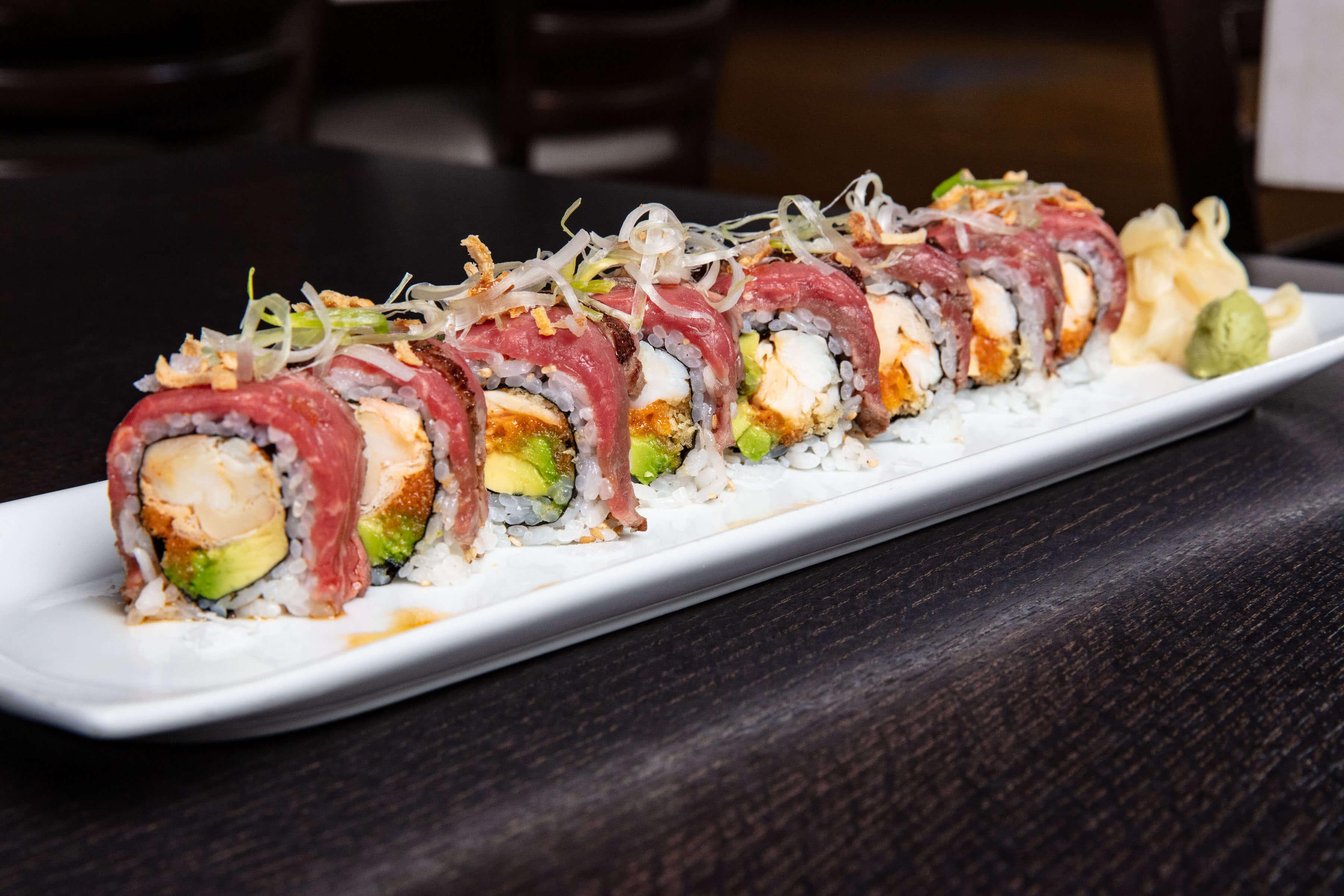 King Crab & Beef Tataki Roll