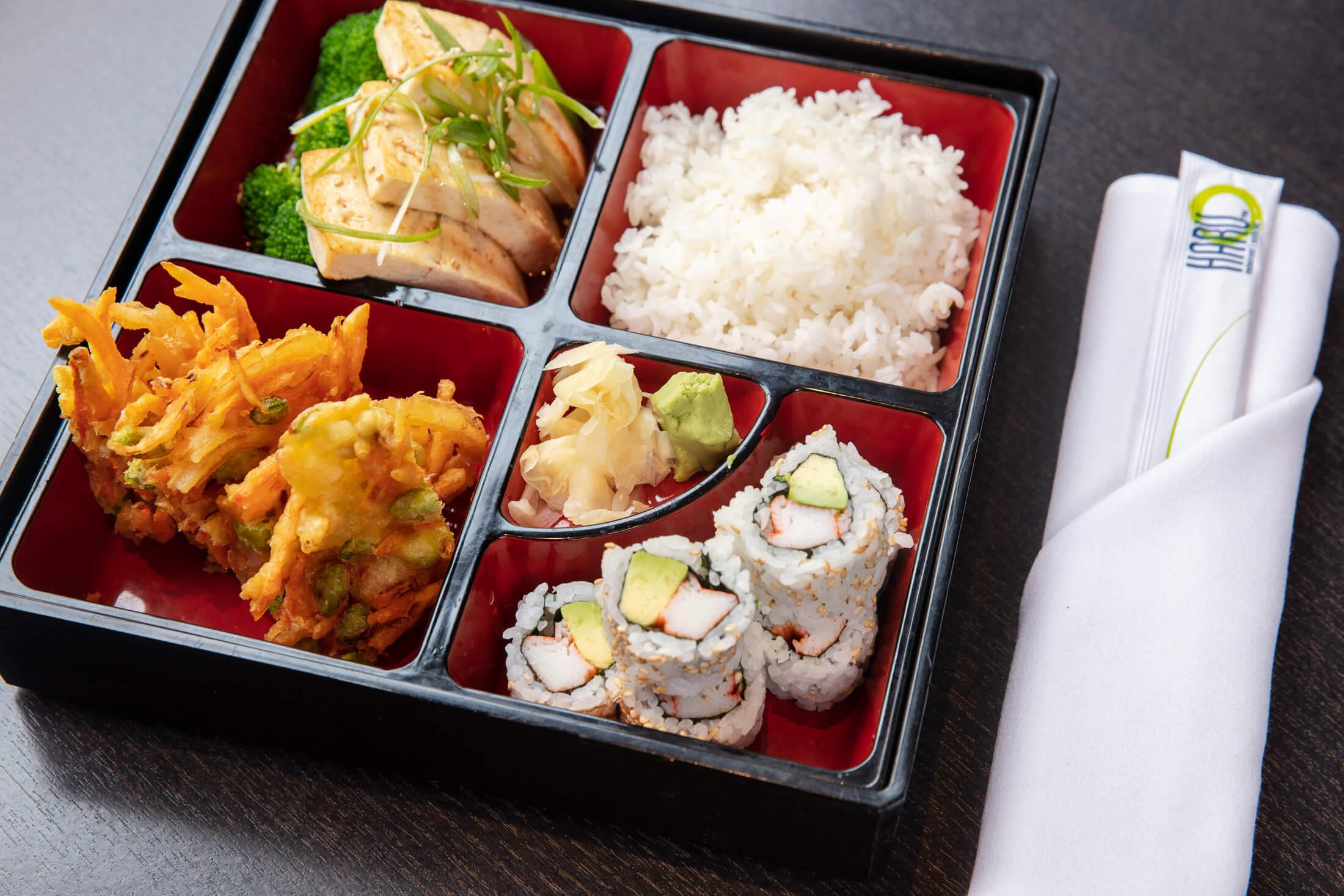 Tofu Steak Bento Box lunch